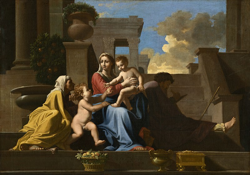 Follower of Nicolas Poussin - The Holy Family on the Steps. National Gallery of Art (Washington)