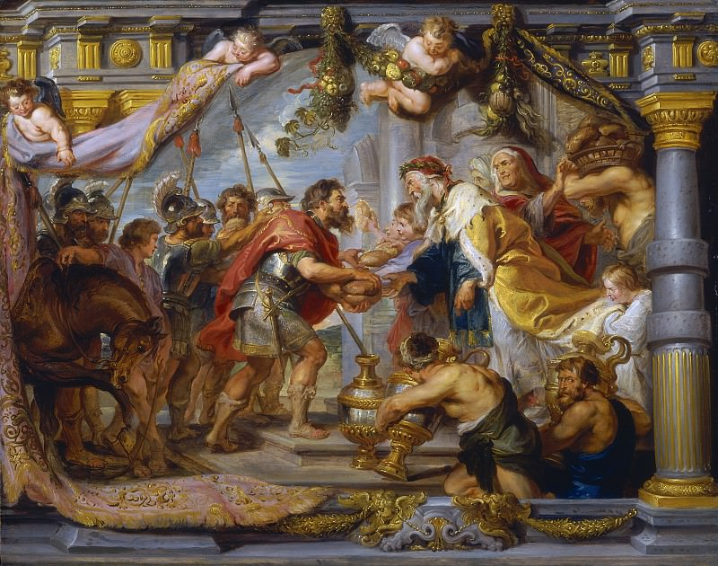 The Meeting of Abraham and Melchizedek - 1625. Peter Paul Rubens