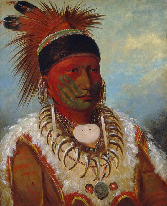 George Catlin - The White Cloud, Head Chief of the Iowas. National Gallery of Art (Washington)