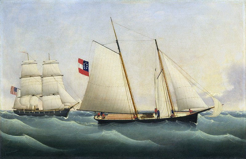 Fritz Muller - Capture of the «Savannah» by the «U.S.S. Perry». National Gallery of Art (Washington)