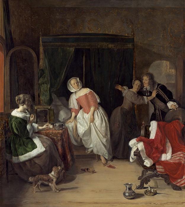Gabriel Metsu - The Intruder. National Gallery of Art (Washington)