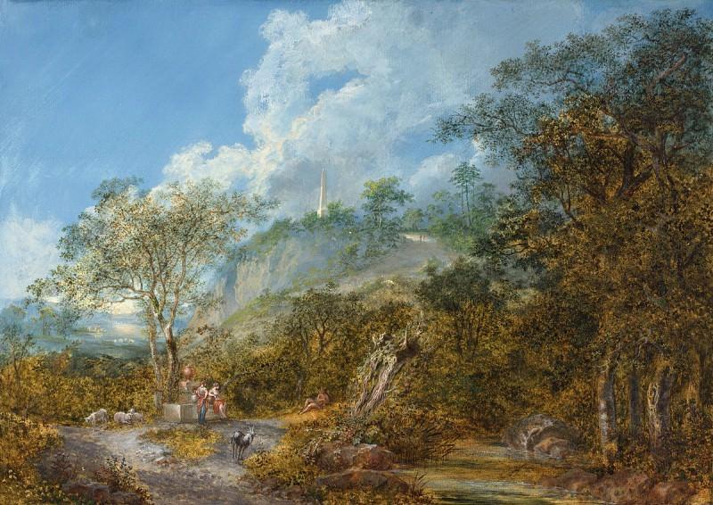 Salomon Gessner - Arcadian Landscape with an Obelisk. National Gallery of Art (Washington)