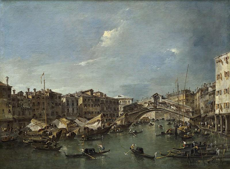 Francesco Guardi - Grand Canal with the Rialto Bridge, Venice. National Gallery of Art (Washington)