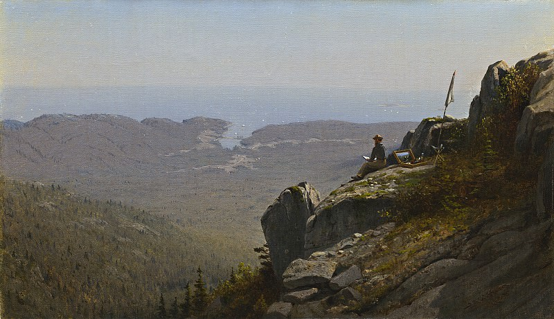 Sanford Robinson Gifford - The Artist Sketching at Mount Desert, Maine. National Gallery of Art (Washington)