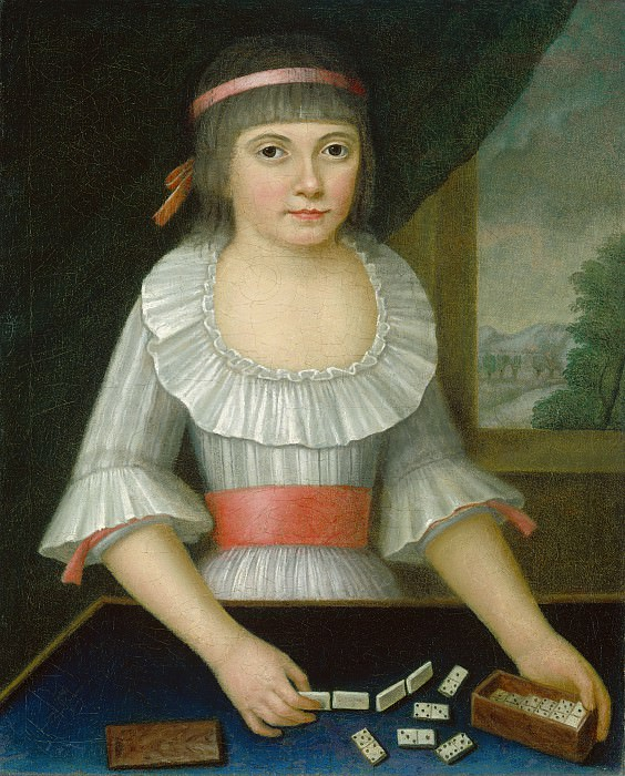 American 18th Century - The Domino Girl. National Gallery of Art (Washington)