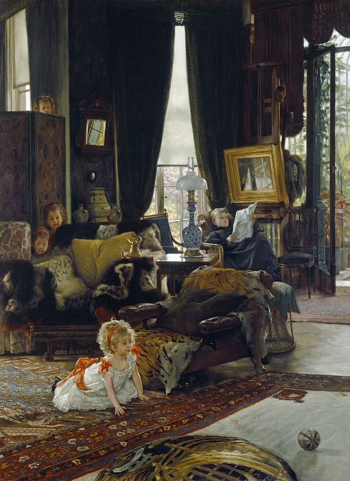 James Jacques Joseph Tissot - Hide and Seek. National Gallery of Art (Washington)