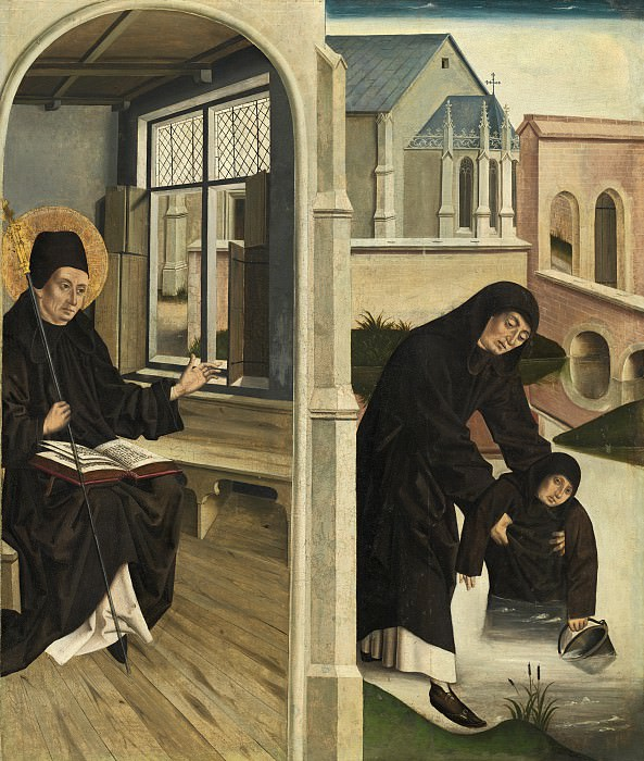 French 15th Century - A Miracle of Saint Benedict. National Gallery of Art (Washington)