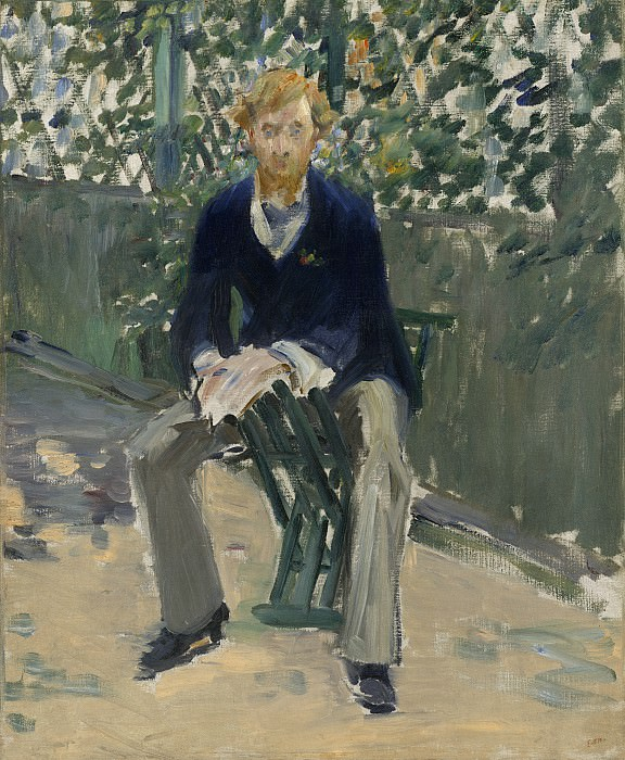 Edouard Manet - George Moore in the Artist's Garden. National Gallery of Art (Washington)