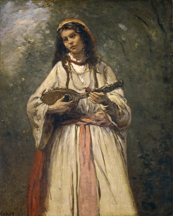 Jean-Baptiste-Camille Corot - Gypsy Girl with Mandolin. National Gallery of Art (Washington)