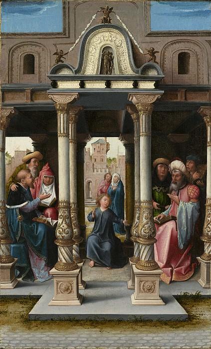 Bernard van Orley - Christ among the Doctors. National Gallery of Art (Washington) (obverse)