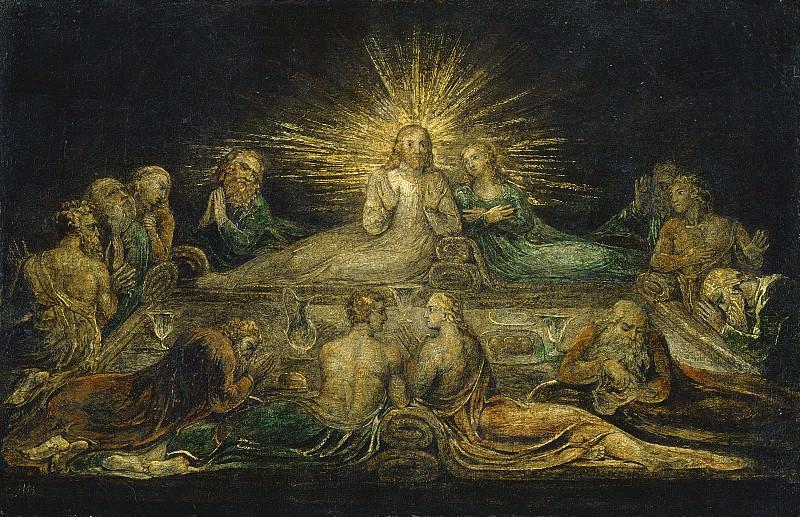 Блейк, Уильям - Тайная вечеря. Национальная галерея искусств (Вашингтон)