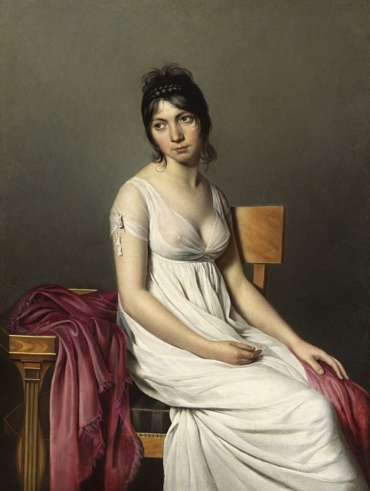 Circle of Jacques-Louis David - Portrait of a Young Woman in White. National Gallery of Art (Washington)