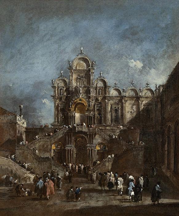Francesco Guardi - Temporary Tribune in the Campo San Zanipolo, Venice. National Gallery of Art (Washington)