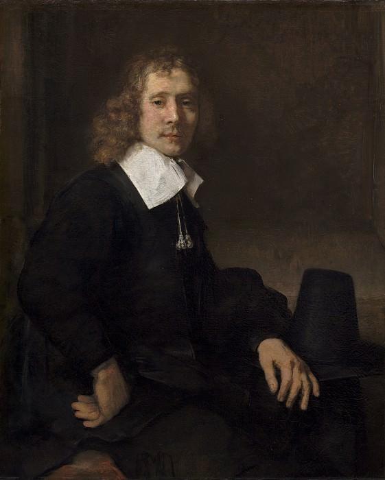 Молодой человек сидящий за столом. Рембрандт Харменс ван Рейн