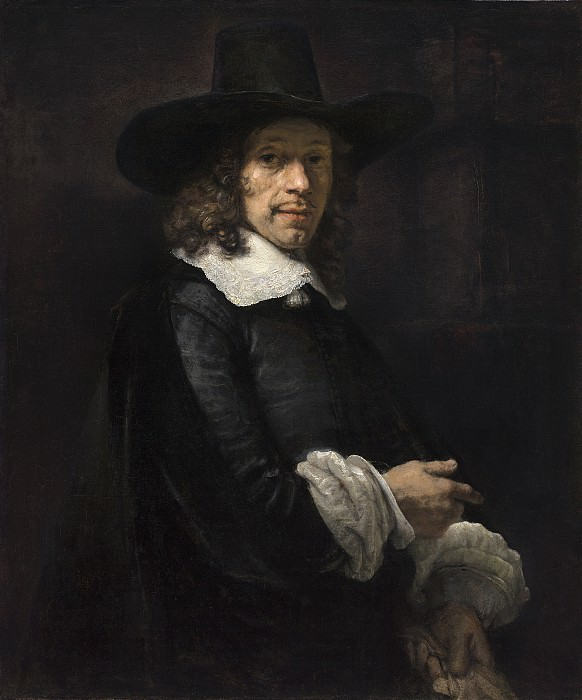 Portrait of a Gentleman with a Tall Hat and Gloves. Rembrandt Harmenszoon Van Rijn