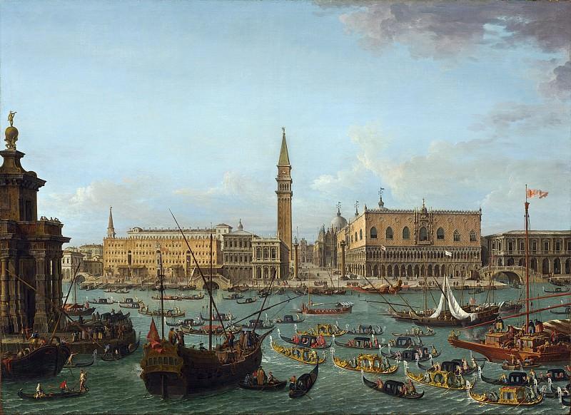 Antonio Joli - Procession of Gondolas in the Bacino di San Marco, Venice. National Gallery of Art (Washington)