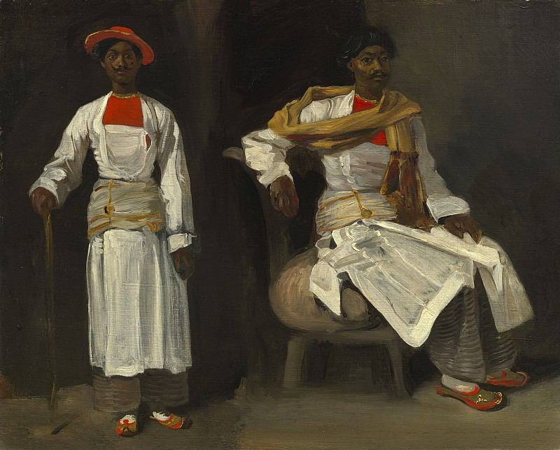 Eugene Delacroix - Two Studies of an Indian from Calcutta, Seated and Standing. National Gallery of Art (Washington)