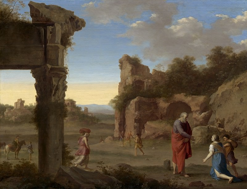 Cornelis van Poelenburch - The Prophet Elijah and the Widow of Zarephath. National Gallery of Art (Washington)