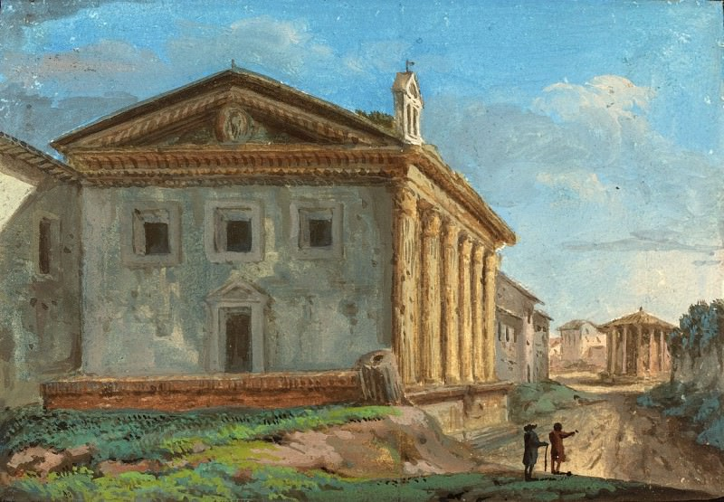Italian 18th Century - Tempio della Fortuna Virile with the Tempio di Vesta in the Distance. National Gallery of Art (Washington)