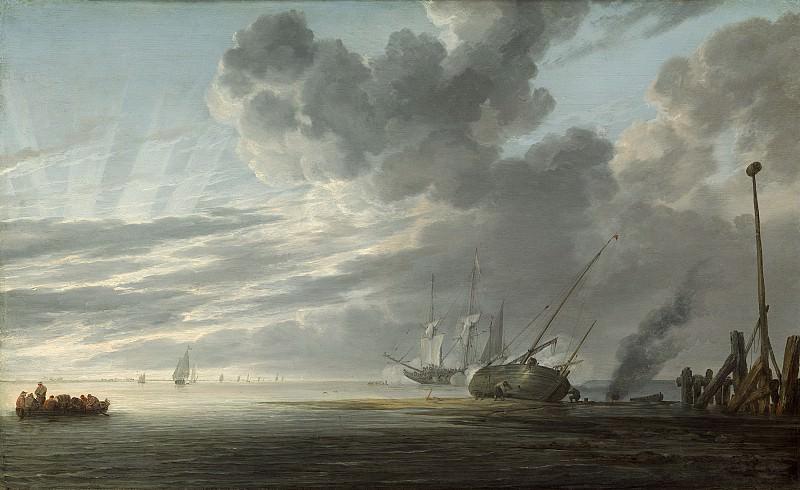 Simon de Vlieger - Estuary at Dawn. National Gallery of Art (Washington)