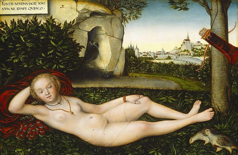 Кранах, Лукас I - Нимфа весны. Национальная галерея искусств (Вашингтон)