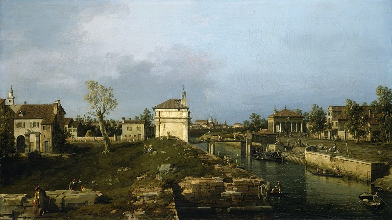 Canaletto - The Porta Portello, Padua. National Gallery of Art (Washington)