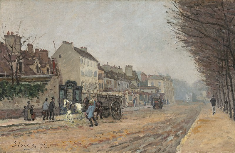 Alfred Sisley - Boulevard Heloise, Argenteuil. National Gallery of Art (Washington)