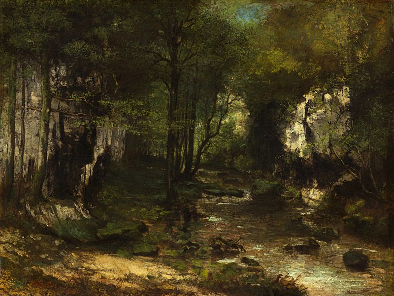 Gustave Courbet - The Stream (Le Ruisseau du Puits-Noir; vallee de la Loue). National Gallery of Art (Washington)