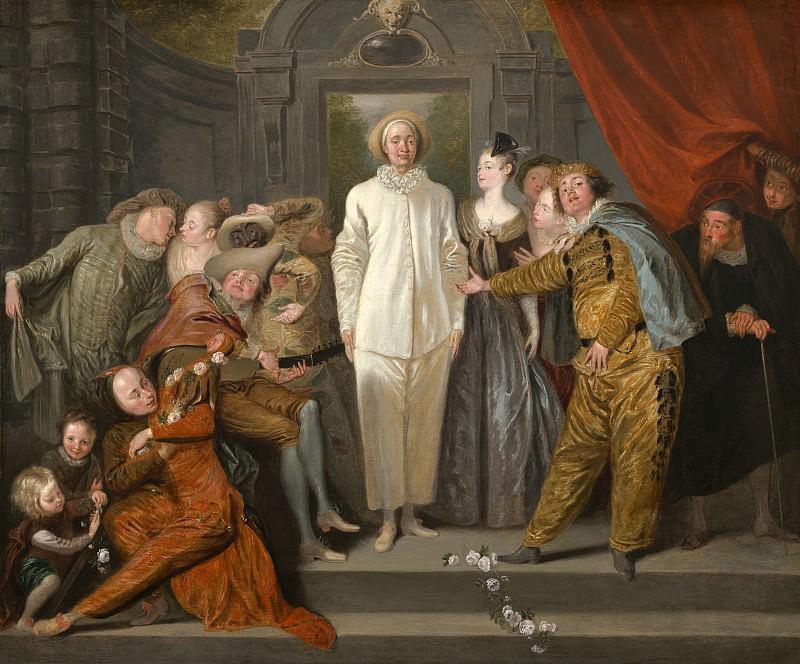 Antoine Watteau - The Italian Comedians. National Gallery of Art (Washington)