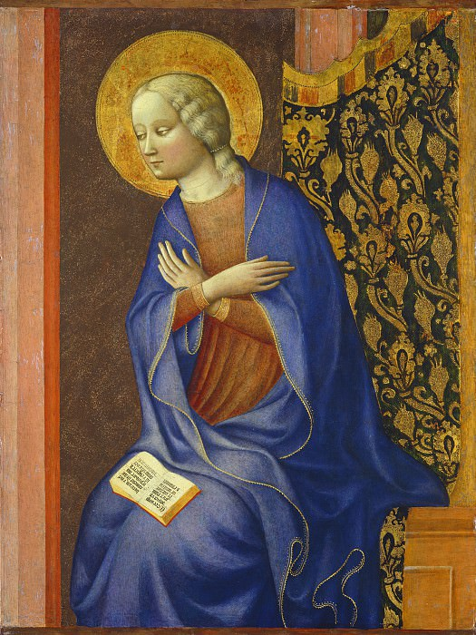 Masolino da Panicale - The Virgin Annunciate. National Gallery of Art (Washington)