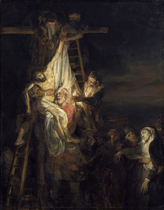 Rembrandt Workshop (Probably Constantijn van Renesse) - The Descent from the Cross. National Gallery of Art (Washington)