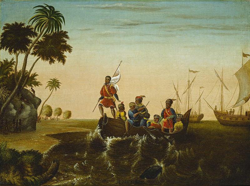 Edward Hicks - The Landing of Columbus. National Gallery of Art (Washington)