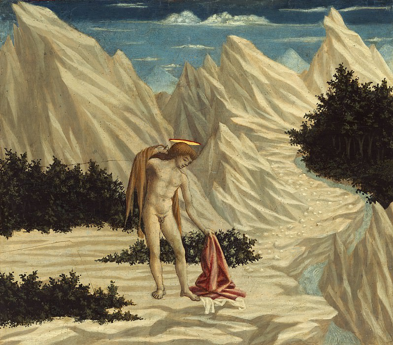 Domenico Veneziano - Saint John in the Desert. National Gallery of Art (Washington)