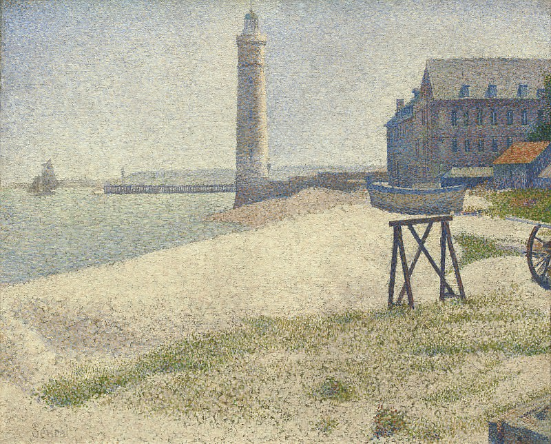 Georges Seurat - The Lighthouse at Honfleur. National Gallery of Art (Washington)