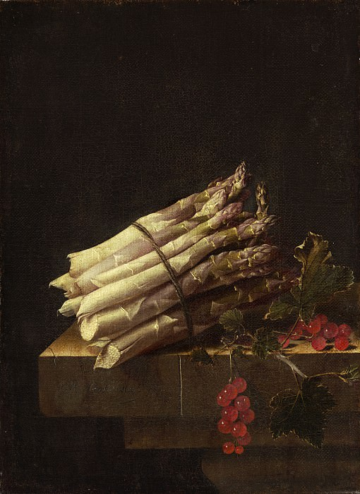 Adriaen Coorte - Still Life with Asparagus and Red Currants. National Gallery of Art (Washington)