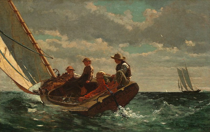 Winslow Homer - Breezing Up (A Fair Wind). National Gallery of Art (Washington)