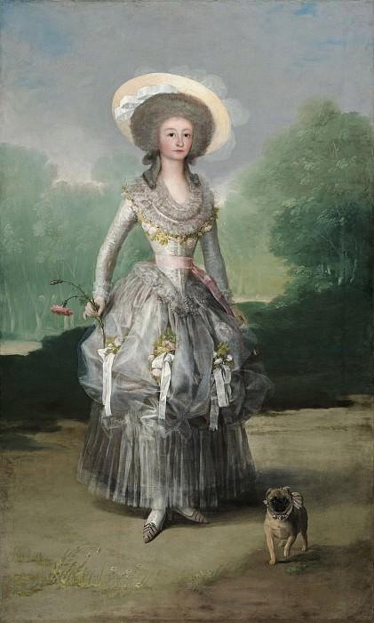 Francisco de Goya - The Marquesa de Pontejos. National Gallery of Art (Washington)
