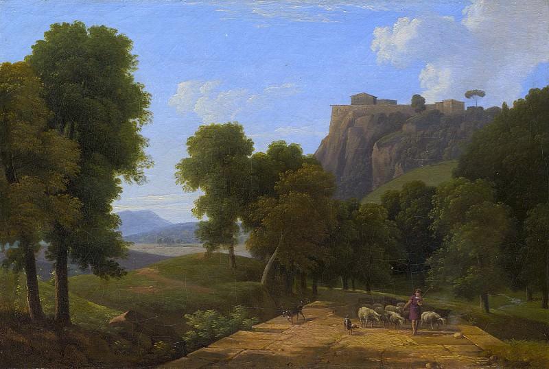 Бертен, Жан-Виктор - Пастух со стадом. Национальная галерея искусств (Вашингтон)