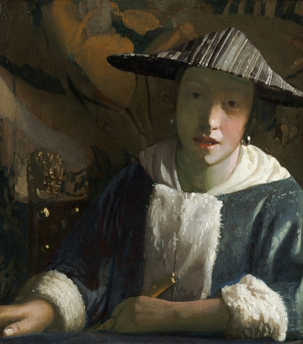 Attributed to Johannes Vermeer - Girl with a Flute. National Gallery of Art (Washington)