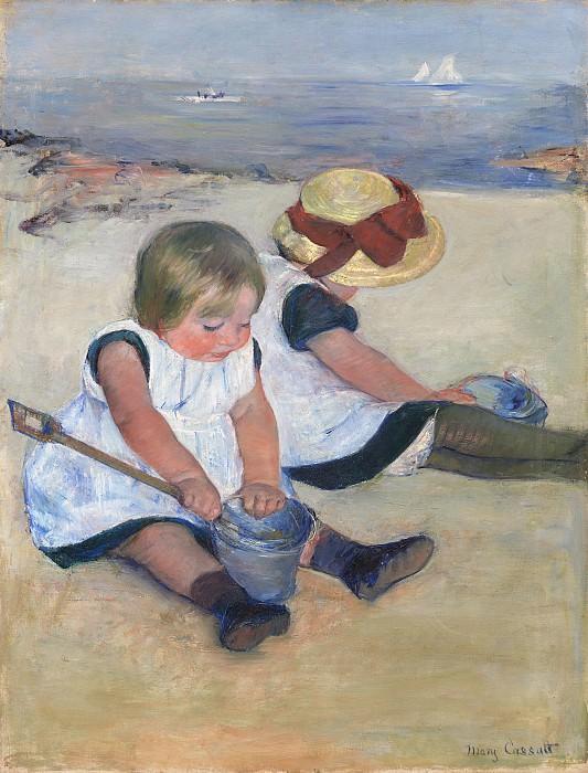 Mary Cassatt - Children Playing on the Beach. National Gallery of Art (Washington)