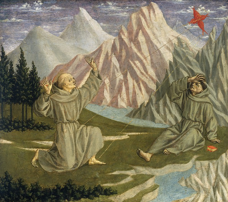 Domenico Veneziano - Saint Francis Receiving the Stigmata. National Gallery of Art (Washington)