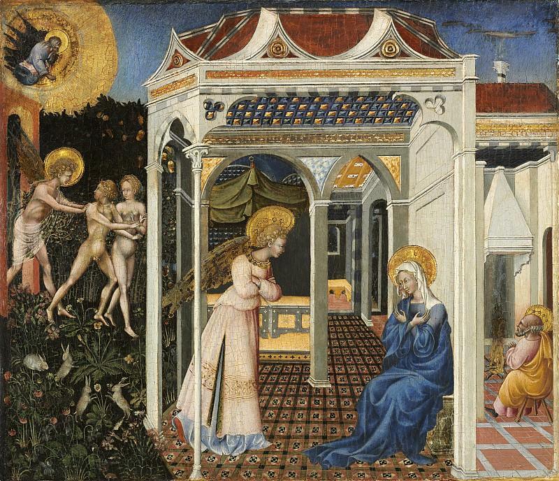Джованни ди Паоло - Благовещение и Изгнание из рая. Национальная галерея искусств (Вашингтон)