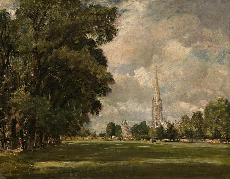 John Constable - Salisbury Cathedral from Lower Marsh Close. National Gallery of Art (Washington)