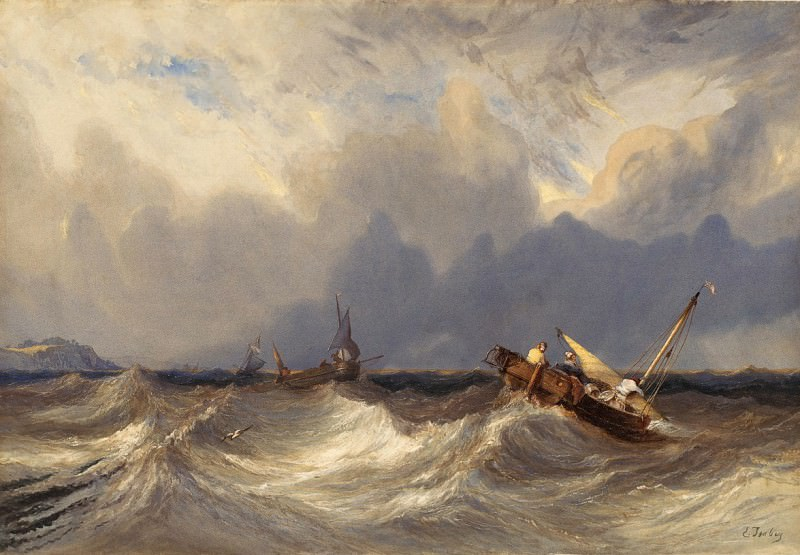 Eugene Isabey - Fishing Boats Tossed before a Storm. National Gallery of Art (Washington)