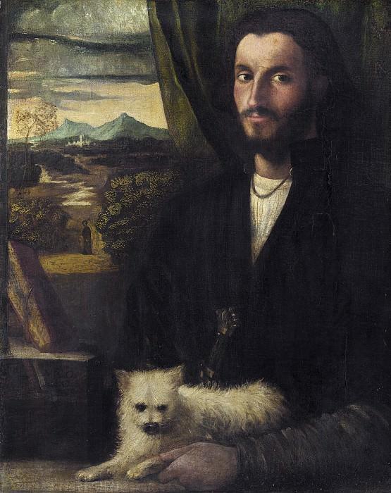 Кариани, Джованни - Портрет мужчины с собакой. Национальная галерея искусств (Вашингтон)