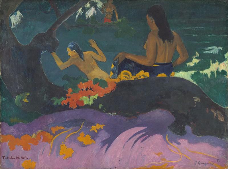 Paul Gauguin - Fatata te Miti (By the Sea). National Gallery of Art (Washington)