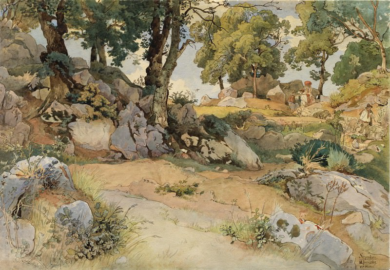 Victor Paul Mohn - Rocks and Oaks in the Serpentara. National Gallery of Art (Washington)