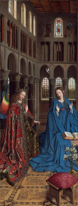 The Annunciation. Jan van Eyck
