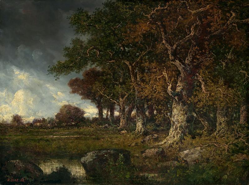 Диас де ла Пенья, Нарсис - Опушка леса в Ле Мон-Жирар, Фонтенбло. Национальная галерея искусств (Вашингтон)