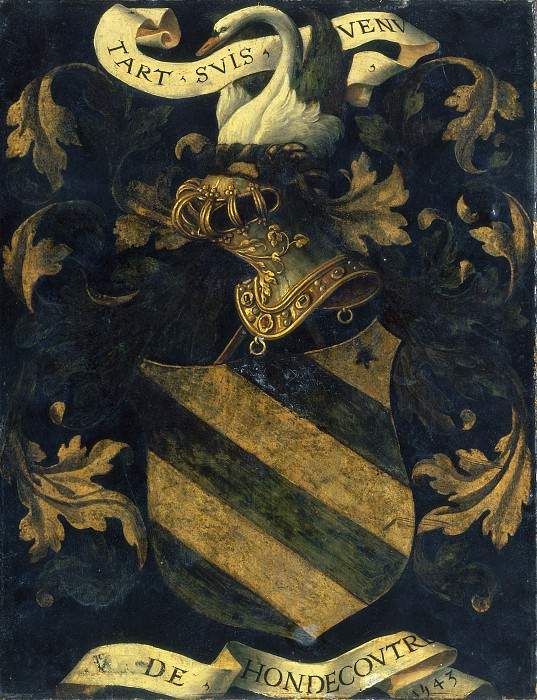 Probably Antwerp 16th Century - Crested Coat of Arms. National Gallery of Art (Washington) (reverse)